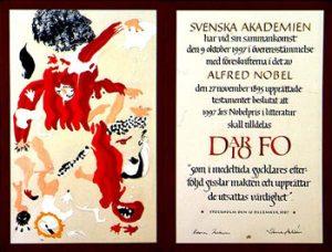 Nobel_Literature_1997_Diploma od Dairo_Fo