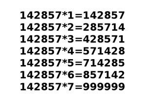 Number-142857